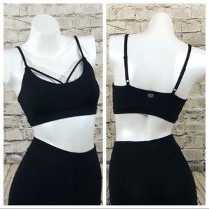 NWOT Black sports bra size small